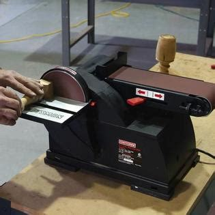 craftsman bench sander 6 disc 4 quot x 36 quot belt bench top sander get the perfect finish with tools at sears