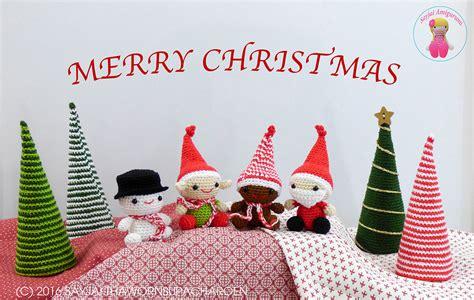 kerst amigurumi een nieuw haakpatroon voor kerstmis amigurumi haak patronen van sayjai