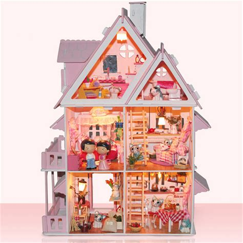model doll houses diy wood model dollhouse doll houses handmade gift room 3d