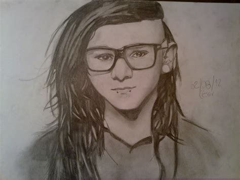 imagenes de skrillex para dibujar a lapiz skrillex drawing por cesarburton18 dibujando