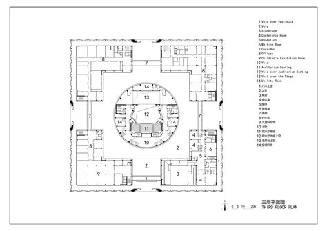 cultural center floor plan gallery of da chang muslim cultural center architectural