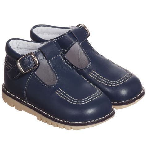 s t shoes children s classics navy blue leather t bar shoes