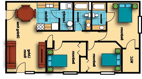 Four Bedroom House Floor Plans by Home Design 800 Sq Ft 3d 2 Bedroom Floor Plans 850 Plan