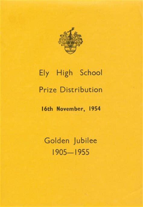 skye boat song dawn french ely high school 1905 1972 speech day programme for 16