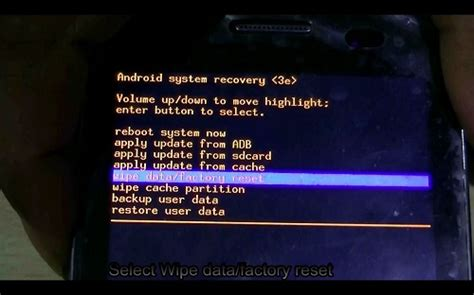 android boot menu differnt reset factory wipe methods for tablet pc my tablet guru