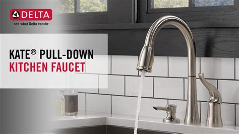 delta kate kitchen faucet delta kate single handle pull down sprayer kitchen faucet