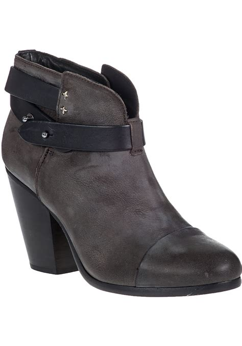 rag bone harrow leather ankle boots in white lyst