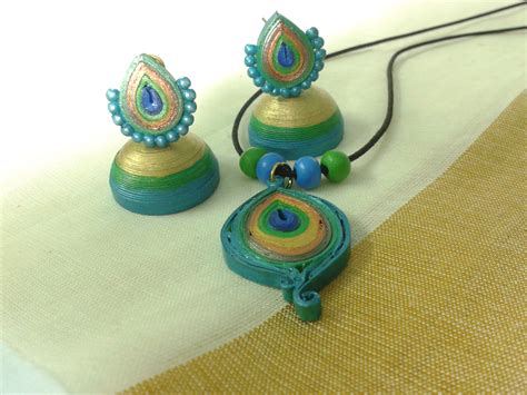 How To Make Paper Jhumkas At Home - paper earrings paper jewellery paper quilling or