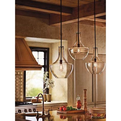 Kichler Lighting Everly Kichler Everly Brushed Nickel 10 5 Inch One Light Pendant