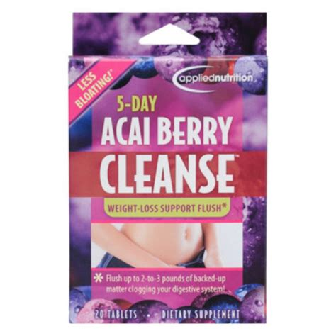 5 Day Clean Detox Plan by Applied Nutrition 5 Day Acai Berry Cleanse Dietary