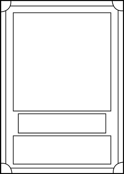 bifold card template deviantart trading card template front by blackcarrot1129 on