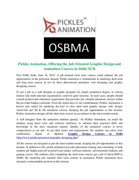 pattern master jobs in delhi ncr pickles animation offering the job oriented graphic