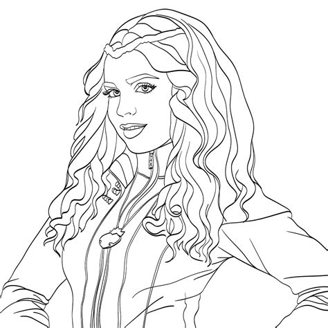 Descendants Coloring Pages Of Evie | top 10 disney descendants 2 coloring pages