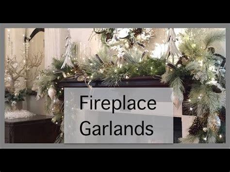 fireplace garland decorations fireplace garland