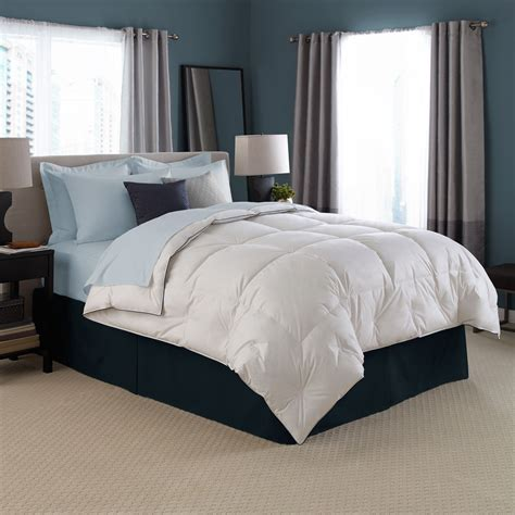 modern bedding light blue linen down comforter with vintage rectangle