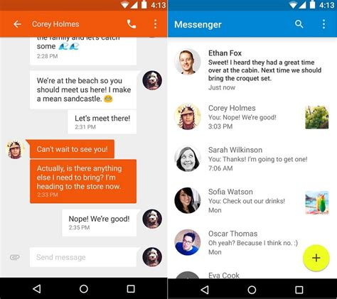 best android messenger brings android 5 0 messenger sms app to the play store the droid