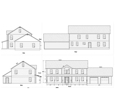 Floor Plan And Elevation Drawings by House Plans Elevation Floor Plan North Arrow Model