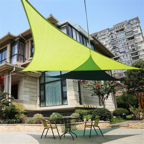 triangle sail sun shade lyshade 16 5 quot right triangle sun shade sail canopy uv block patio lawn outdoor