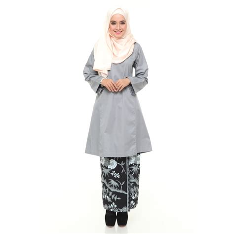 Images Baju Kurung Riau kurung riau le d 233 but grey black wahdini wardrobe