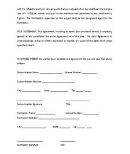 Subcontractors Contract Template by Subcontractor Agreement Template Microsoft Word Templates