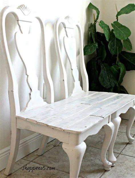 chairs into bench diylikeaboss curbside chairs remade into a bench hometalk