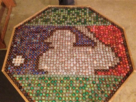 bottle cap table designs how to recycle bottle cap design on table floor and walls