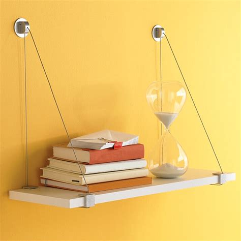 Melamine Shelf Brackets by Cable Brackets With White Melamine Shelf The Container Store