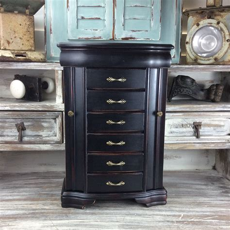 large black jewelry armoire fabulous jewelry armoire black jewelry box large by