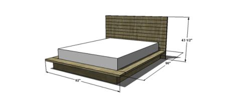 Size Platform Bed Measurements Free Woodworking Plans To Build A Viva Terra Inspired King