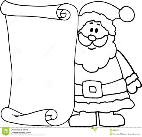 Santa Message Letter For Santa Claus Stock Illustration Illustration Of Illustration Blank Letter Template Black And White