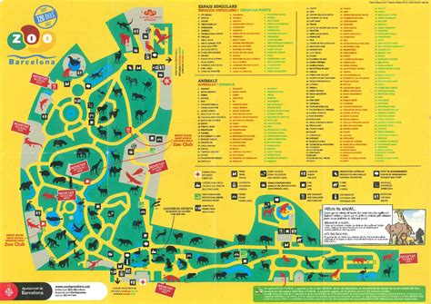 Barcelona Zoo Map | barcelona zoo zoomaps co uk