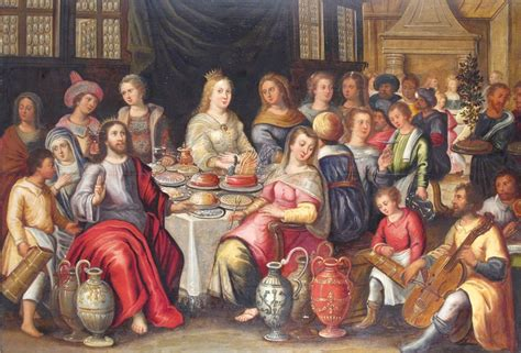 Wedding At Cana Artwork by Frans Francken Ii The Wedding Feast At Cana