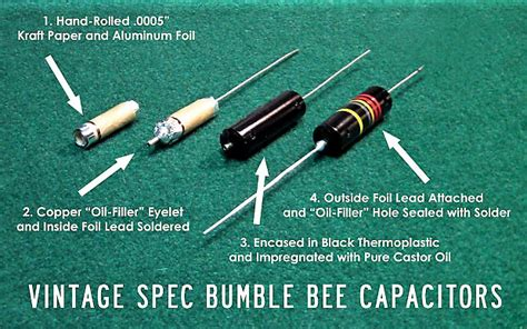 sprague bumblebee capacitor color code bumble bee capacitor calculator 28 images luxe bumble bee capacitors repro filled 022mf