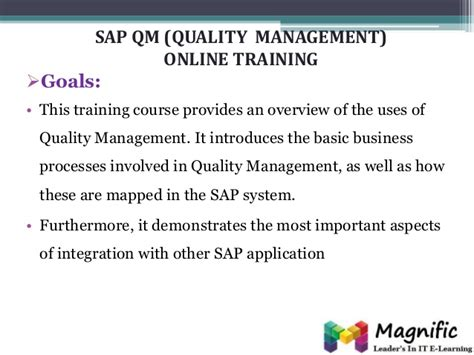sap qm tutorial pdf sap qm quality management online training