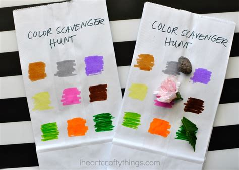 color hunt simple color scavenger hunt for i crafty things