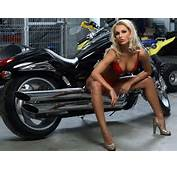 10/22/14  1009 Sexy Girls In Lingerie On Harley Davidson Motorcycle