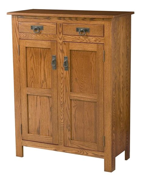 amish mission style two door cabinet with wood panels