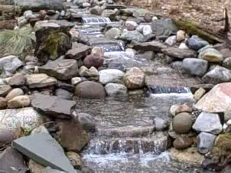 backyard stream construction pond waterfall and stream project in new jersey usa youtube