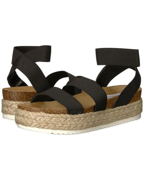 Steve Madden Kimmie Black by Lyst Steve Madden Kimmie Espadrille Sandal Black S Shoes In Black Save 1