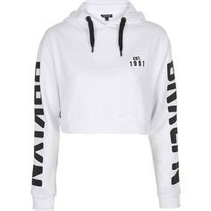 White Black Leisure Hooded Top 30854 1 adidas running crop hoodie 65 liked on polyvore