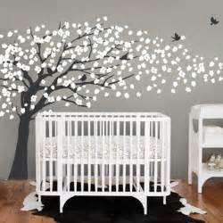 Nursery Decorations Wall Stickers Cherry Blossom Tree Style Wall Decal Modern Nursery Decor New York By Simple