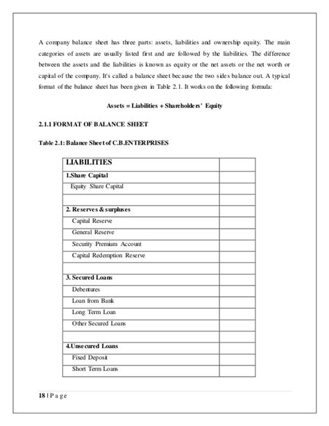 asset and liability statement template free asset and liability statement template free