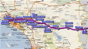 i 10 california traffic map