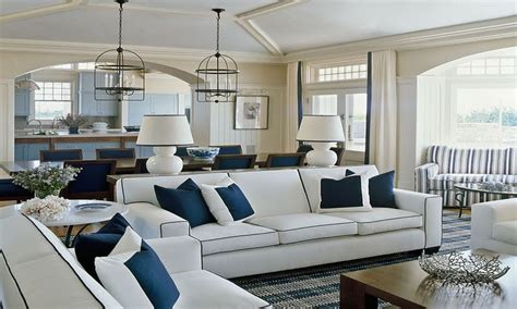 navy blue and white living room coastal home furniture navy blue and white living room
