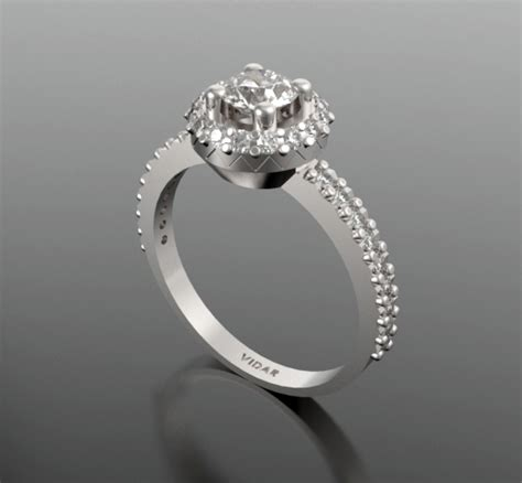 unique white gold engagement ring vidar jewelry
