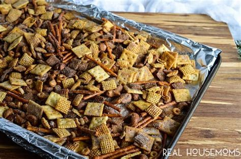 recipe for traditional chex mix cinnamon sugar sweet chex mix real housemoms
