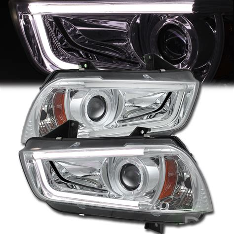 2013 dodge charger hid headlights 2011 2013 dodge charger non hid model led drl