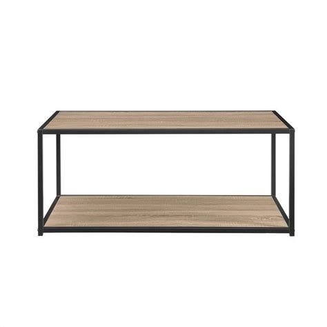 altra furniture coffee table altra furniture coffee table with metal frame in sonoma