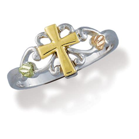 landstrom s 174 s gold on sterling silver cross ring