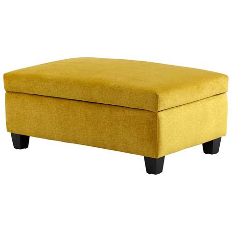 Yellow Storage Ottoman Yellow Textured Fabric Storage Bench Ottoman Cyandesign 08351